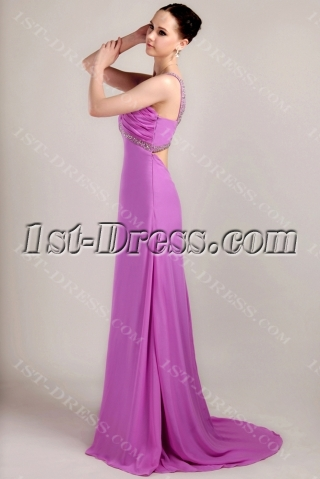 Sexy Lilac Bridesmaid Dresses with Open Back IMG_3346