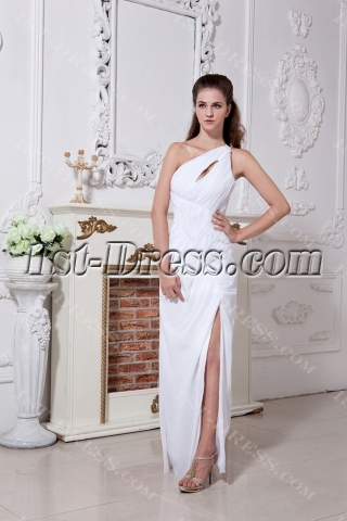 Sexy Long One Shoulder Petite Evening Dress IMG_1774