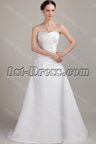 Simple Sweetheart Elegant Bridal Gown IMG_3201