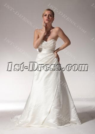 Sweetheart Beautiful Celebrity Wedding Dresses with Sash bdjc891308