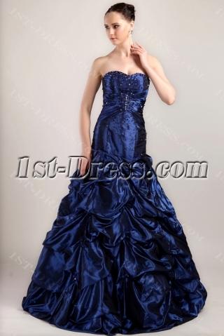 Sweetheart Mermaid Quinceanera Dresses 2013 Blue IMG_3428