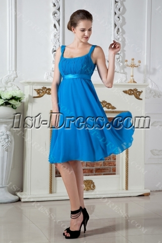 Teal Blue Scoop Modest Cheap Bridesmaid Dresses Online IMG_1831
