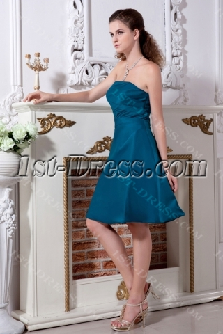 Teal Cute Short Junior Prom Dress IMG_2086