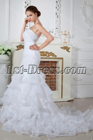 Top Quality Mermaid Wedding Dresses with Lace up IMG_1692