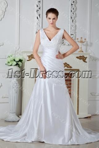 V-neckline Destination Wedding Dresses 2012 Beach IMG_1593