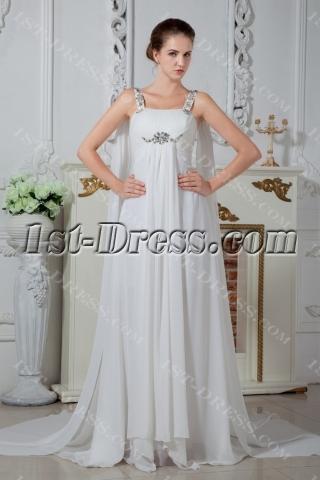 Vintage Straps Wedding Dresses for Mature Brides IMG_1725