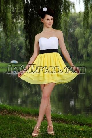 Yellow Colorful Sweet 16 Dress Mini IMG_0731