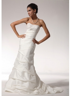 2012 Empire Sheath Satin Simple Destination Wedding Dresses with Lace up bdjc890508