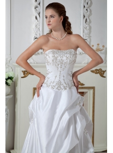 A-line Princess Satin Plus Size Bridal Gowns IMG_1467