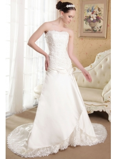 Beautiful Bridal Gown Wedding with Drop Waist IMG_3673