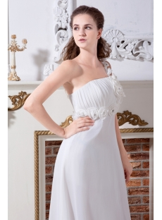 Beautiful One Shoulder Mature Bridal Gown for Beach IMG_2205