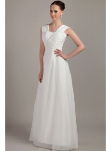 Beautiful White Long Junior Prom Dress IMG_3297