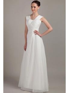 Beautiful White Long Junior Prom Dress IMG_3297