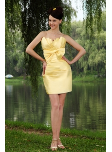 Beautiful Yellow Mini Short Sweet 16 Dress IMG_0782