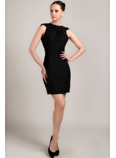 Black Cocktail Dress with Low Back IMG_3368