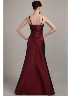 Burgundy Spaghetti Straps Long Bridesmaid Dresses 2012 IMG_3034