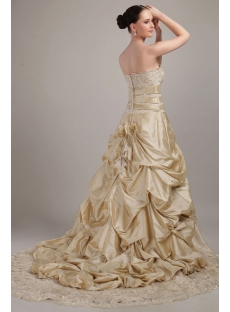 Champagne Charming Princess Bridal Gown IMG_3124