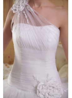 Charming One Shoulder Princess Wedding Gown Dress IMG_3604