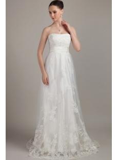 Cheap Ivory Beautiful Maternity Bridal Gown IMG_3194