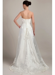 Cheap Ivory Beautiful Maternity Bridal Gown IMG_3194