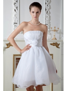 Cheap Ivory Short Quince Gown Dress IMG_1953
