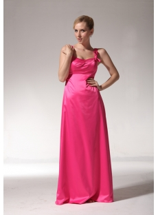 Cheap Long Fuschia Bridesmaid Dresses with Straps bmjc890908