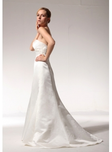 Cheap Simple Sheath Wedding Dresses 2011 with Sweep Train bdjc891008