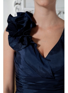 Dark Blue Mini Cocktail Dress with V-neckline IMG_2010
