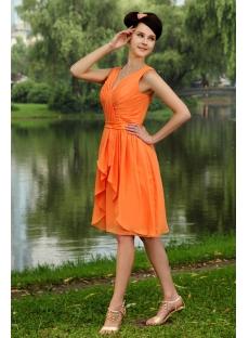 Elegant Orange Short Junior Bridesmaid Dress IMG_0823