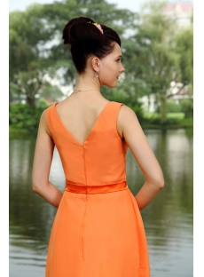 Elegant Orange Short Junior Bridesmaid Dress IMG_0823