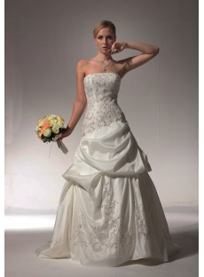Embroidery Pick up Romantic Wedding Dresses bdjc890408