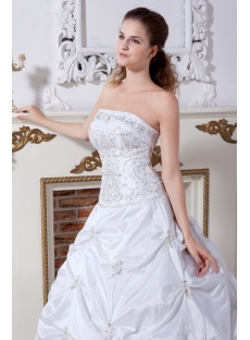 Embroidery Princess Bridal Gown for Petite Lady IMG_2229