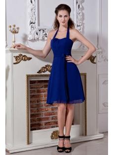 Fancy Halter Royal Blue Short Cocktail Dress IMG_2046