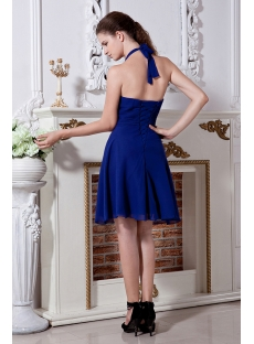 Fancy Halter Royal Blue Short Cocktail Dress IMG_2046