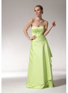 Green Long Junior Bridesmaid Dress with Sweetheart bmjc890108