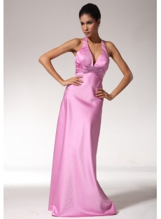 Halter Open Back Sexy Beach Bridesmaid Dresses edjc890109