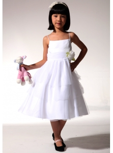Inexpensive Ivory Short Flower Girl Dress fgjc890609