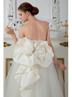 Ivory Ball Gown Dresses for 15 Quinceaneras with Bow IMG_1669
