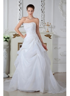 Ivory Strapless Cheap Wedding Dresses Online Australia IMG_1569