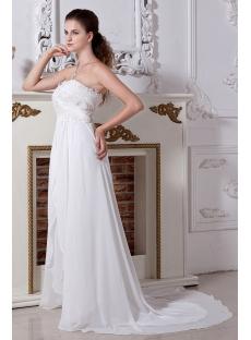 Long Ivory Maternity Wedding Dresses Plus Size with Train IMG_2039