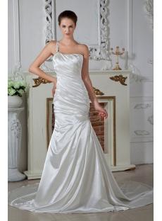 One Shoulder Sheath Wedding Dresses for Beach Weddings IMG_1580