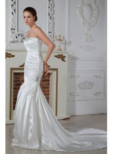 One Shoulder Sheath Wedding Dresses For Beach Weddings