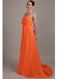 Orange Pregnant Plus Size Empire Prom Dress IMG_3404