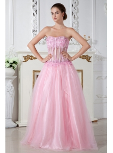 Pink Sexy Illusion 2011 Quinceanera Dress IMG_2016