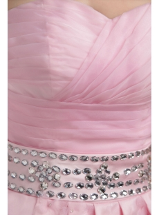 Pink Short Sweet Quinceanera Dress with Floral IMG_3168