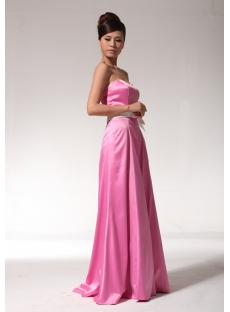 Pink and White Vintage Evening Dress bmjc890308
