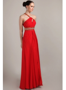 Red Long Graduation Dresses For College With Open Back Img