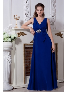 Royal V-neckline Military Prom Gown Dress 2013 IMG_2093