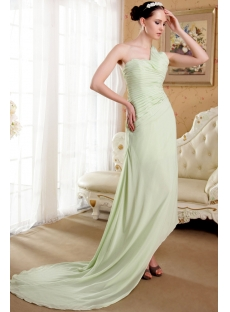 Sage High-low Hem Celebrity Gown with Train IMG_3653