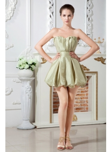 Sage Short Junior Prom Dresses with Sweetheart IMG_1802